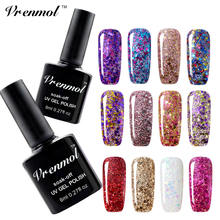 Vrenmol 1 stks Shiny Elegent Party Rode Diamant Serie Vernis UV Lamp Losweken Nagellak Gel Lak Vernis Semi Permanente Gel Polish(China)