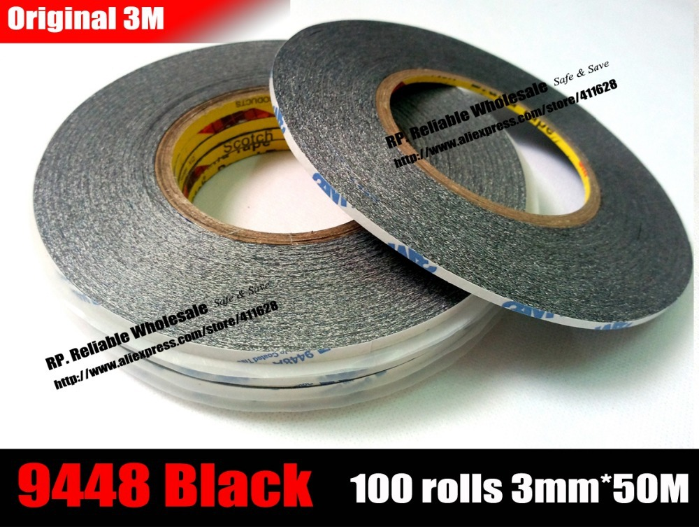 1x10mm*50M 3M 9448A Double Sided Stircky Tape F LCD Touch Pannel Dispaly Repair