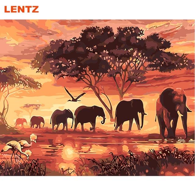 78 49 De Descuentoelefante Animal Diy Pintura Para Colorear Por Números Acrílico Imagen Pared Arte Hogar Decoración Regalo único Arte