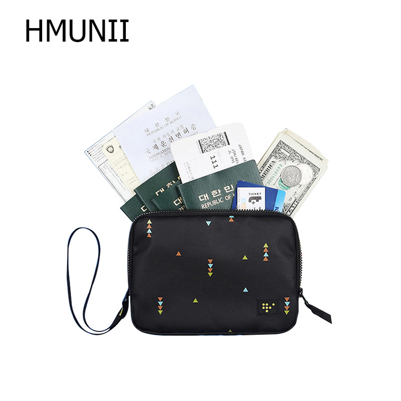 HMUNII Travel Passport wallet ID Credit Card Storage Holder Women's Boarding Wallets Trip Money Purse Pouch Accessories Supply