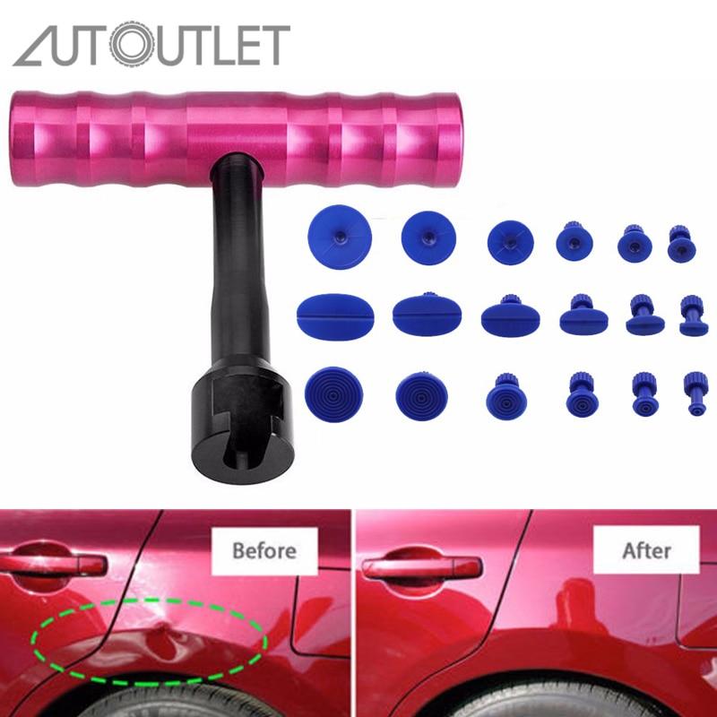 18x//Set Car Auto T-Bar Body Panel Paintless Dent Pit Repair Tool Lifter Puller