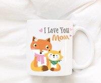 Mothers Day Fox Mugs Beer Travel Cup Coffee Mug Tea Cups Home Decor Novelty Friend Gift