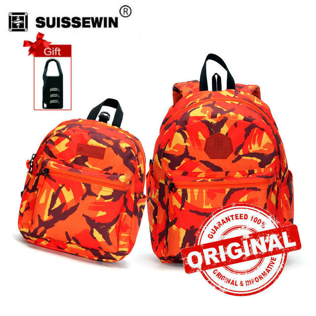 4d2c05ce29 Suissewin Parent-child Backpack Set Fashion Family Set Backpack Colorful  Anti-lost Baby Backpack Toddler Kids School Bag sn2004