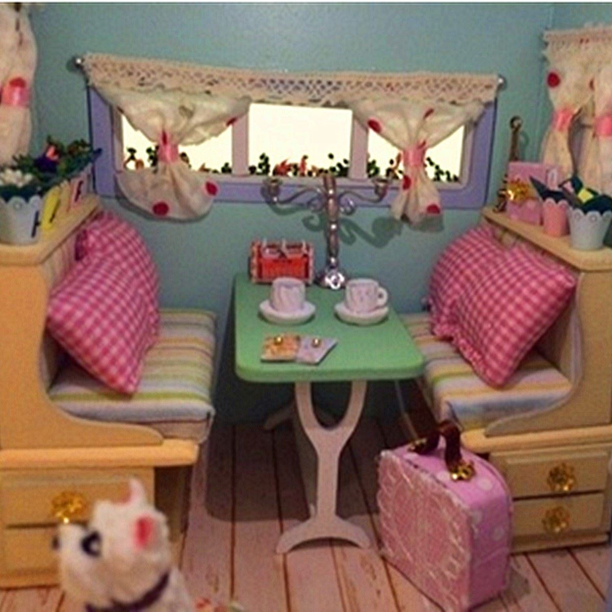 Diy dollhouse miniature wooden assembled with voice activated light diy dollhouse miniature wooden assembled with voice activated light music handmade kits building model travel caravan for girls in doll houses from toys solutioingenieria Choice Image