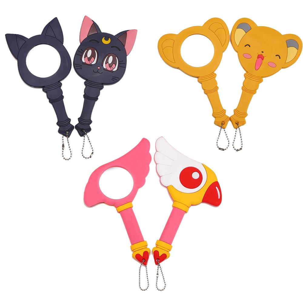 Sailor Moon Wand Stick Rod Luna Anime Card Captor Sakura Cardcaptor Kinomoto Sakura Mirror Wands Chain Cosplay Factory Direct Selling Price Mirrors