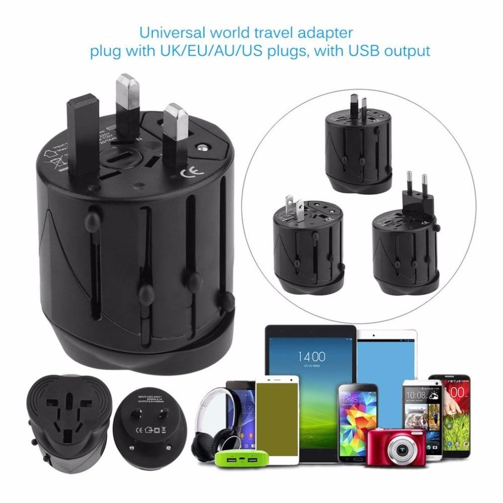 Universal Power Plug Converter Travel Mini Portable Adapter Electric Plugs Sockets Converter USB Charging Socket