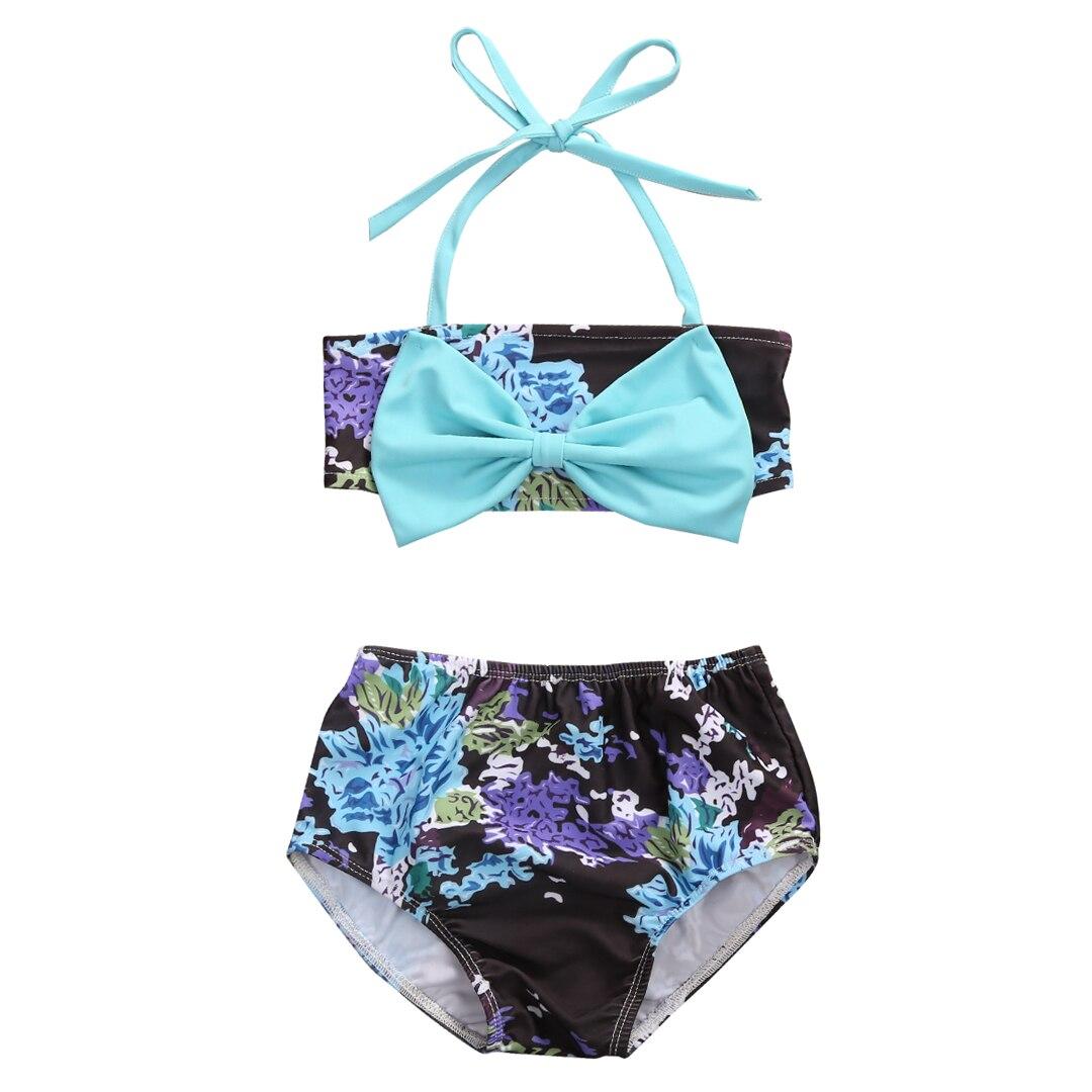 одежда для девочек Дети Девочки Лук Tankini Бикини Набор Малышей Девушка Одежда Набор Хо ...