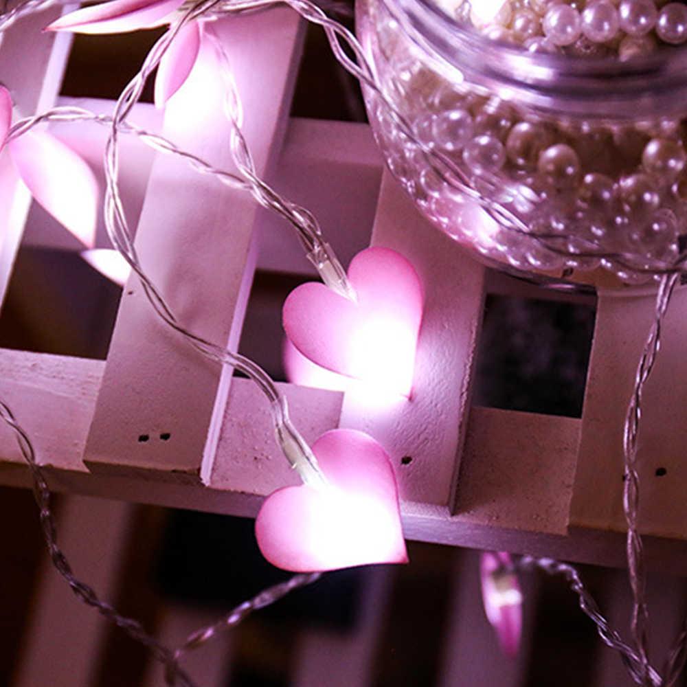 1.5M 10LEDs 3M 20LED Romantic LED String Lights for Xmas Garland Party Wedding Decoration Christmas Flasher Fairy Lights