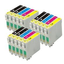 15 Tintenpatronen (3 Sätze + Schwarz) nicht OEM zu ersetzen T1285 & T1281