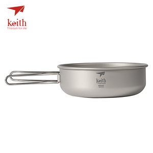 Image 3 - Keith Camping Titanium Bowls 300ml 600ml With Titanium Folding Handles Folding Bowls Cookware Tableware Cutlery Ti5323 Ti5326
