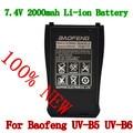 Original Baofeng BL-B bateria 7.4 V 2000 mah para Walkie Talkie Baofeng uv-uv-b5 b6