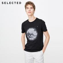 купить!  SELECTED Мужская повседневная стильная хлопковая футболка с круглым вырезом с круглым вырезом с круг Лу�