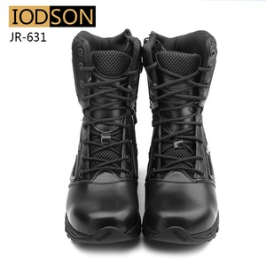 Image 4 - IODSON Military Tactics Mens Ankle Combat Boots Outdoor Special Forces Combat Shoes Leather Waterproof Safety Work Boots Size 3
