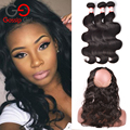 Gossip Girl Brazilian Body Wave With Closure 360 Lace Frontal With Bundle ,Pre Plucked 360 Frontal With Bundles Human Hair