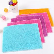 New Arrival Square Soft Bamboo Fiber Towel Car Cleaning Wash Clean Cloth Care Hand Towels Pots Bowls House Cleaning #0515