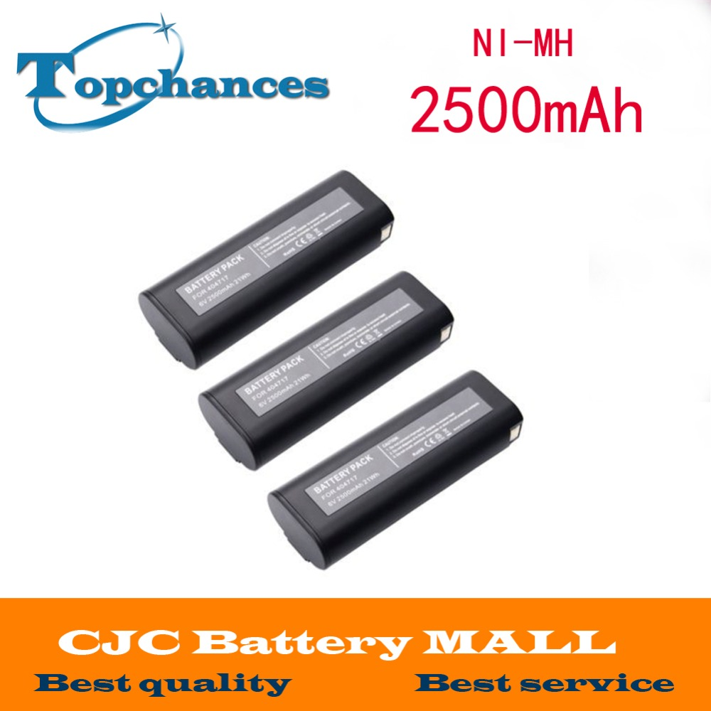 3x 2500mAh 6V Ni-MH Battery for PASLODE 404400 404717 900400 900420 IM250A IM65A аккумулятор metabo 12v 3 0ah ni mh bsz12 bs12sp 6 0215 501