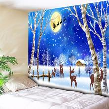 Snow Forest Tapestry Wall Hanging Carpet Christmas Decorative Fabrics for Wall,Anime Tapestry Paintings Wall Cloth Tapestries цена в Москве и Питере