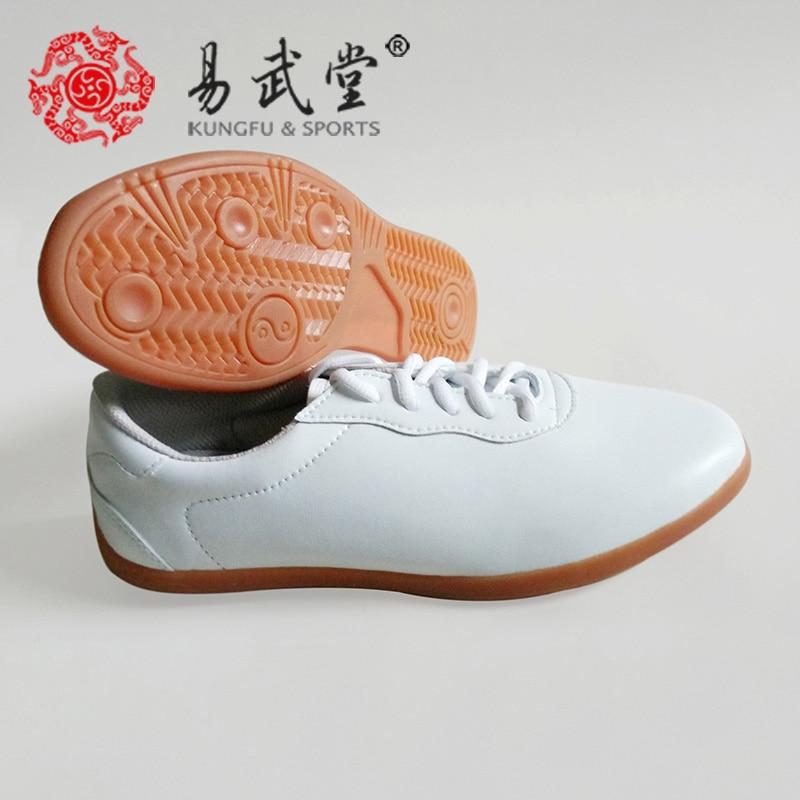 White Leather Tai Ji Shoes