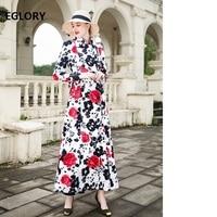Высококачественное Брендовое Пальто Тренч 2018 осеннее модное женское красивое двубортное пальто с цветочным принтом женское повседневное