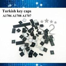 A1707 A1708 турецкий ключ Шапки для macbook pro retina 13 A1706 Чехлы для клавиш английский 2016 2017