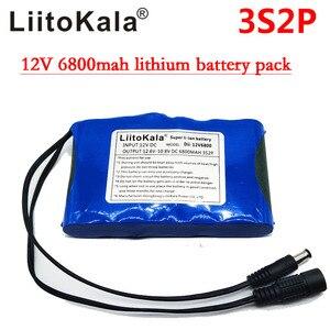 Image 4 - HK Liitokala Süper Taşınabilir Şarj Edilebilir Lityum Iyon Kapasitesi DC 12 V 12.6 V 6800 mAh Pil CCTV Monitörler