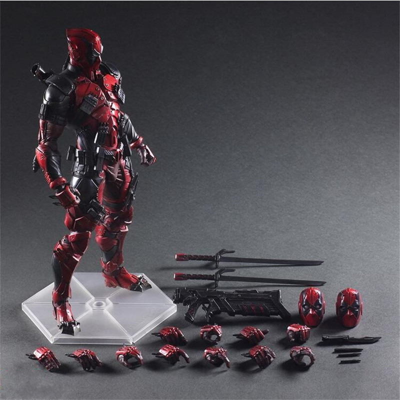 Deadpool Figure Wolverine X Men X-MEN Play Arts Kai Deadpool Wade Winston Wilson Play Art KAI PVC Action Figure 26cm Doll Toy cute 6cm deadpool reading figure model toy wade winston wilson deadpool pvc figure collection gift
