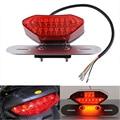 12V Number-plate Light 16-LED LED Motorcycle Turn Signal Brake License Plate Intergrated Tail Light Red Brake lights