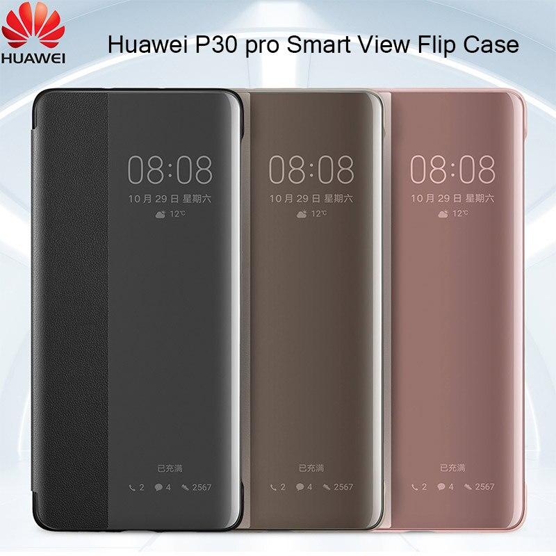 Hauwei p30 pro case Original Flip cover Smart View clear Flip Case p 30 business luxury