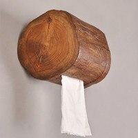 Wood Towel Tube Home Hotel Bathroom Toilet Paper Tube Toilet Tissue Holder Kitchen Tray LW0226456