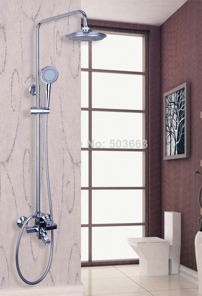 Shower Equipment Home Improvement Torayvino Modern Bathroom Silver Solid Brass Rain & Hand Shower Set Faucets In Chrome 53102 Unequal In Performance
