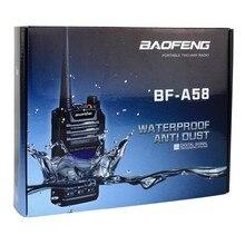 Ip57 a prueba de agua walkie talkie de radio de dos vías baofeng bf-a58