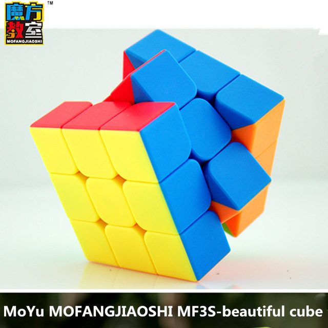 MoYu mofangjiaoshi MF3S magic cube sticker less speed cubes Frosted surface puzzle cubes educational toy for children