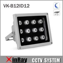 80M Aluminium Automatic Auxiliary Infrared Light with 12LED 60/90Degree IR Illuminator Light for Security Camera