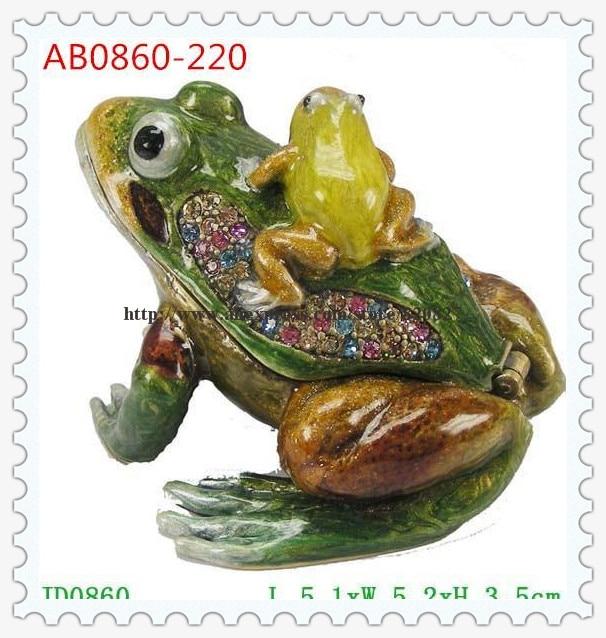 Gifts Handmade Frog Trinket Box Frog Ring Box Miniature Frog