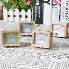 Miyazaki Jun Totoro wooden frame hand music box