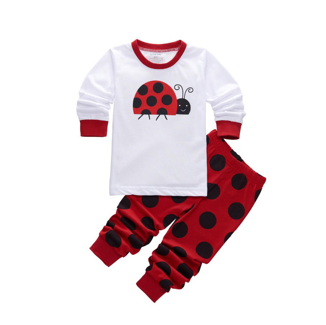 35a2044e7592 Retail Children Pajama Set Girl Clothing Set 2 7 Kids Cartoon ...
