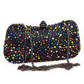 Newest Cheaper Crystal Clutch Bag Black Multicolor Diamond Party Purse Women dinner Bags With Chain Evening Bag Handbags 19