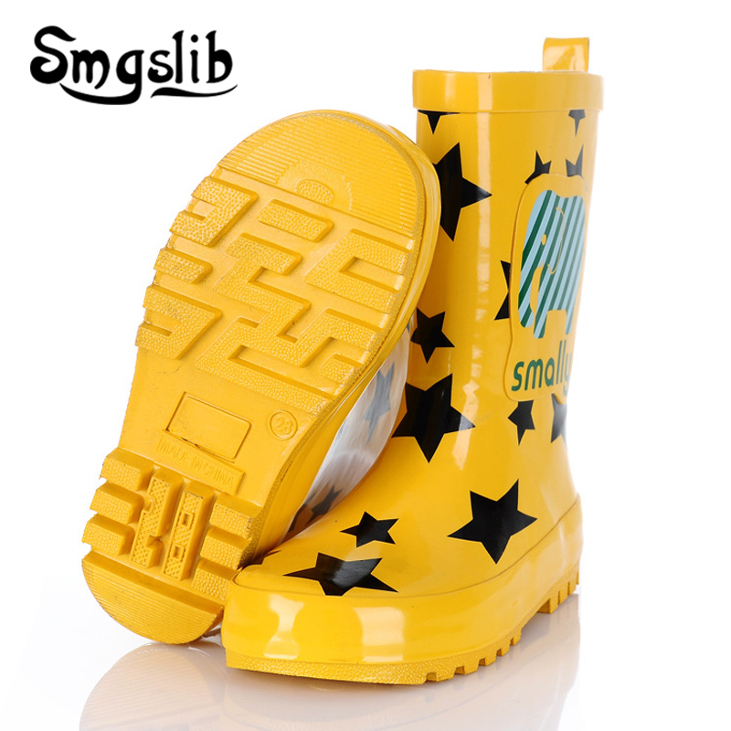 Children Rain Boots Boys Girls Jelly Shoes Boots 2019 Fashion Kids Rubber Rainboots Colorful Boot Cartoon Printing Toddler