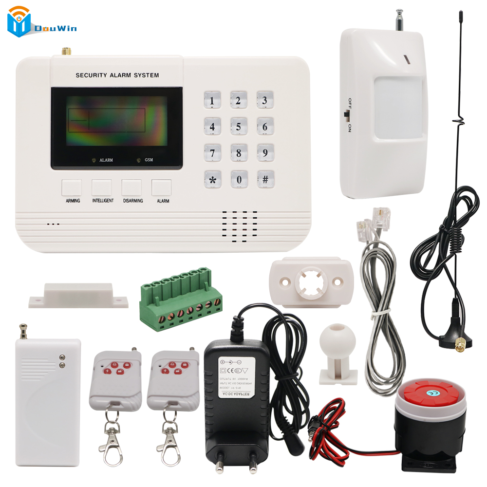 Wireless door sensor Home Security Wifi camera Metal Remote Control Voice Prompt  GSM PSTN Alarm systems LCD  Smart House DouWin boomco набор дополнительных аксессуаров для игры