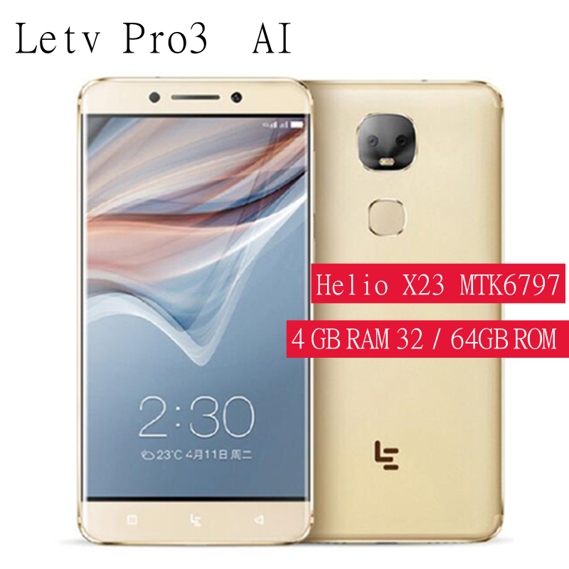 LeEco LeTV Le Pro 3 AI X651 4 GB + 64 GB ROM Helio X23 MTK 2,3 GHz Deca Core 6,0 pulgadas Android 5,5 4G LTE Smartph double caméra