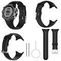 Сменный силиконовый ремешок для часов Garmin Swim Sports Watch с инструментами  Смарт-часы с ремешком  черный браслет