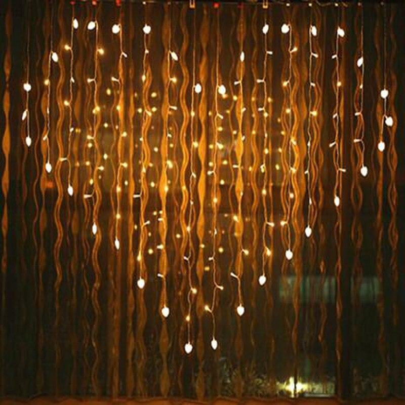 2.5M Heart LED String Lights Curtain Light Romantic Wedding New Year Bar Party Decoratio ...