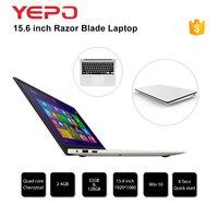 YEPO 15,6 ich ноутбук Z8350 4 Гб + 64 ГБ/2 ГБ + 32 ГБ eMMC Windows 10 США/ЕС/Великобритания Plug
