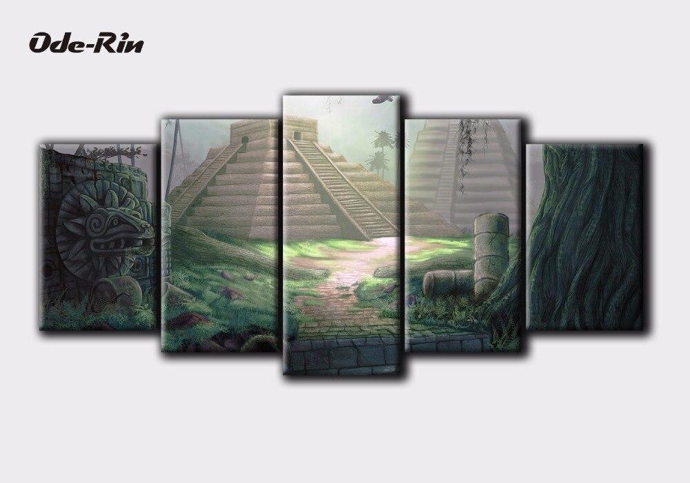 ᐂOde-rin arte pintura pared en la lona decorar pintura al óleo DIY ...