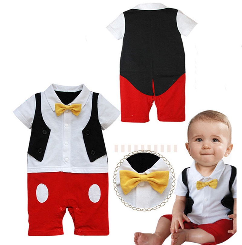 34aa4851b New Newborn 3 6 9 12 18 24 Months Baby Boy Bow Ties Photo Props Rompers  Outfits