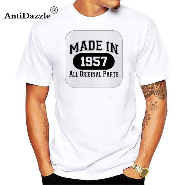 Antidazzle Male Shirt 50th Birthday Gifts Made 1967 All Original Parts TShirt Man Short Sleeve Cotton T Summer O Neck Tee