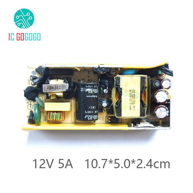 AC DC 12V 5A מיתוג אספקת חשמל מודול מעגל לוח DC מתח רגולטור עבור צג LCD 5000MA 110V 220V 50/60HZ SMPS מצב