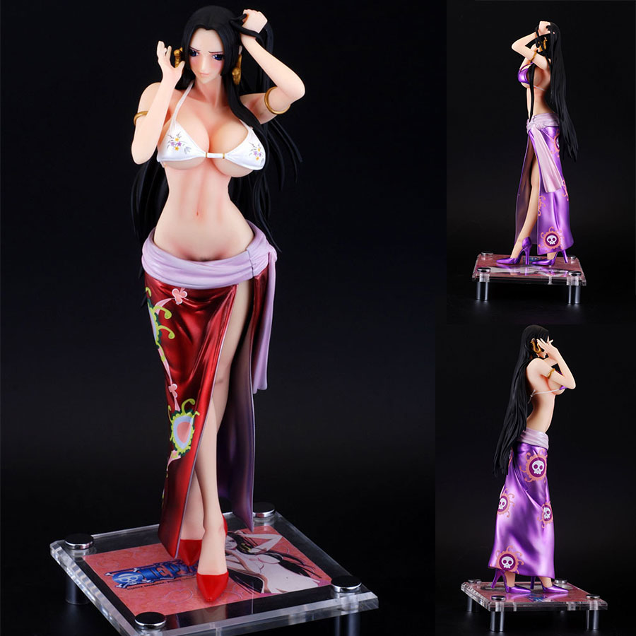One Piece 40cm Boa Hancock PVC Action Figure Sexy Girl Clothes detachable version Snake Empress Anime Model Toys With Color Box