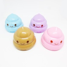 Creative Double hole cartoon Faeces pencil sharpener Child learning stationery Office Supplies