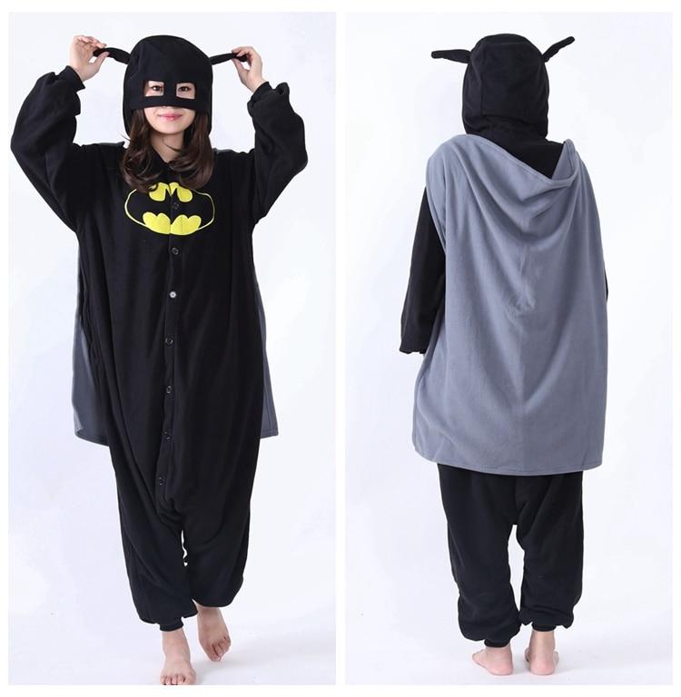Halloween Party Cosplay Costumes Unisex Pyjamas Adult Pajamas Batman Onesies Men Women Vampire Hooded Coverall Fleece Sleepwear